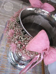 "Shabby chic Garland made of pink ""baby's breath"""