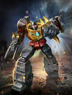Dinobots Leader Grimlock Artwork From Transformers Legends Game