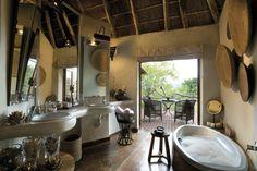déco originale de salle de bain rustique