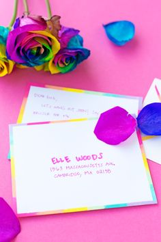 DIY Rainbow Edge Stationery - Studio DIY