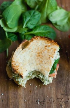 Toasted pesto chicken salad sandwiches, Simply Love Food.