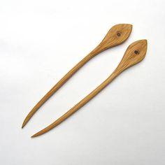 wlkr / Drevené sponky do vlasov/Drevené ihlice do vlasov / Dubové ihlice do vlasov - tikadlá