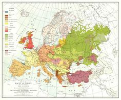 Races of Europe by National Geographic 1919 #map #ngm #europe