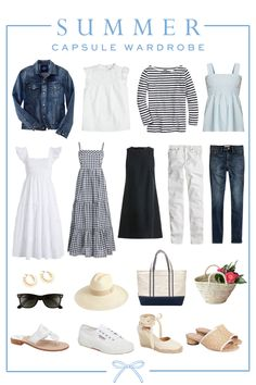 Capsule Outfits, Fashion Capsule, Mode Outfits, Fashion Outfits, New Wardrobe, Summer Wardrobe, Wardrobe Capsule, Travel Wardrobe, Wardrobe Ideas