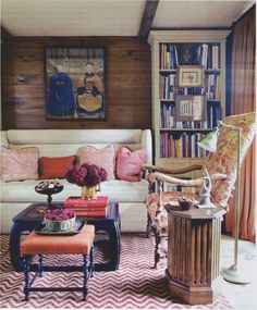cozy with warm colors and patterns