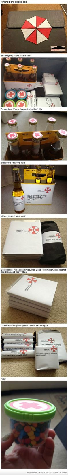 Zombie Survival Kit--the stay at home and play video games and eat candy till I die version. lol!