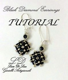 TUTORIAL ORECCHINI BLACK DIAMOND
