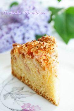 Ciasto z rabarbarem i kokosową posypką   Arabeska