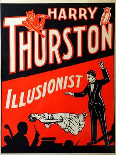 A rare lithograph for Harry Thurston, Howard Thurston's younger brother who had close ties to the mob-run underwold in Chicago, circa 1930.
