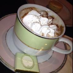 Hot chocolate at Laduree