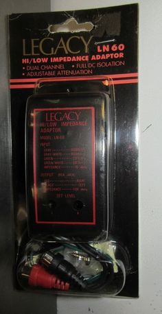 Legacy LN-60 Hi/Low Impedance Adaptor New In Package #Legacy