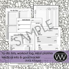 Are you just starting out your fitness journey? Or do you need a fun way to organize your current routines? Let this kit do the job for you! The