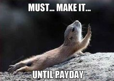 Most people can relate to this....especially if you are paid only once a month!