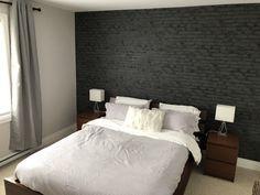 brick bedroom rooms closet