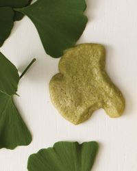 Green Tea Sablés Ginkgo trees in San Francisco's Museum of Modern Art sculpture garden inspired leaf cookies by in-house pastry chef Caitlin Williams Freeman.
