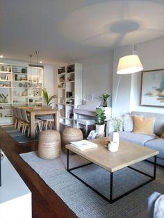 Living Room Colors, Living Room Grey, Living Room Designs, Living Room Decor, Dining Room, Small Apartment Living, Small Living, Cozy Living, Deco Design