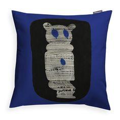 Finlayson Kokkopelle Blue Throw Pillow