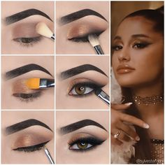 Know about how to do eye makeup at home step by step. Are you searching how to do eye makeup at home? If Yes, So here you can find out easy eye makeup tips step by step with pictures. Ariana Grande Make Up, Simple Makeup Looks, Makeup Eye Looks, Simple Eye Makeup, Natural Eye Makeup Step By Step, Makeup Tutorial Step By Step, Simple Eyeshadow Tutorial, Party Makeup Tutorial, Makeup Ideas