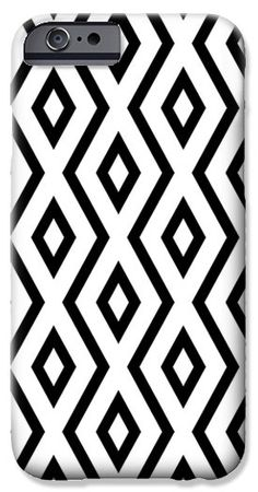 White and Black Pattern iPhone 6 Case by Christina Rollo.  Protect your iPhone 6 with an impact-resistant, slim-profile, hard-shell case.  The image is printed directly onto the case and wrapped around the edges for a beautiful presentation.  Simply snap the case onto your iPhone 6 for instant protection and direct access to all of the phones features!
