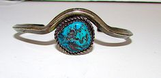 Old Pawn Navajo Sterling Silver Turquoise Cuff Bracelet Native American Vintage Bracelet