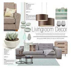 """""""Mint green, grey and brown"""" by dian-lado ❤ liked on Polyvore"""
