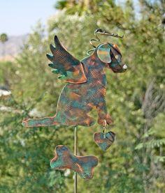 Labrador retriever memorial copper patina finished garden stake.   https://www.etsy.com/shop/GardenCopperArt