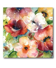 Love this Bunches of Flowers I Wrapped Canvas on #zulily! #zulilyfinds