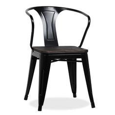 Silla MOSKOV -Powdercoating Black- (Sillas metálicas) - Tolix Sillas de diseño, mesas de diseño, muebles de diseño, Modern Classics, Contemporary Designs...