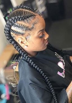 Two Long Braids Pictures 43 cool ways to wear feed in cornrows page 3 of 4 stayglam Two Long Braids. Here is Two Long Braids Pictures for you. Two Long Braids 43 cool ways to wear feed in cornrows page 3 of 4 stayglam. Two Long Braids. Feed In Braids Hairstyles, Black Girl Braids, Braided Hairstyles For Black Women, Braids For Black Hair, Girls Braids, Black Hairstyles, Weave Hairstyles, Feed In Braids Ponytail, Braided Ponytail