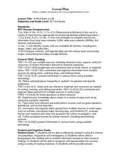 8th grade research paper lesson