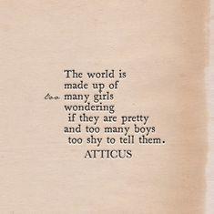 'Girls & Boys' #atticuspoetry #atticus