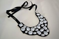 How To Make A Jewel Bib Necklace - accessories, Crafts, DIY, Tutorials - Little Miss Momma
