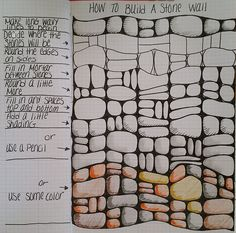 How to build a stone wall by Linda Rea.