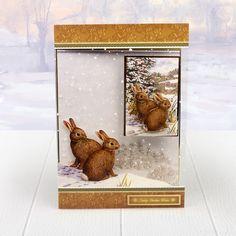Tis the Season Decoupage Set - Festive Squirrel & Christmas Bunnies | Hunkydory Crafts