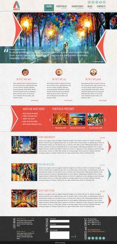cool & colorful web design