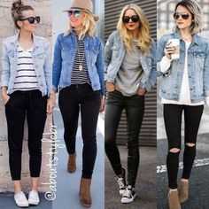 Image may contain: 3 people, people standing and footwear - style - Denim Cute Summer Outfits, Fall Outfits, Cute Outfits, Casual Outfits, Girly Outfits, Denim Fashion, Skirt Fashion, Fashion Outfits, Modest Fashion