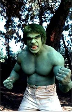 Lou Ferrigno as The Incredible Hulk of 1970s & 80s televison.