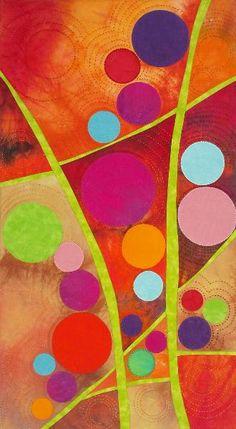 "circles....""Egg Wash"", 25 x 28"", Dianne Vottery Dockery"