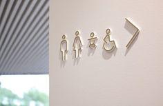 Accesibilidad y señalización de los baños en Serlachius Museum Gösta