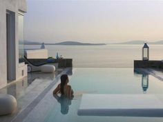 Exotic resort overlooking the Aegean Sea