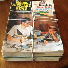 tied with string like only a grandma can do    1969 WHOLE YEAR Model Airplane News-Vintage-Magazines