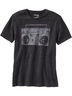 Mens Boombox Graphic Tees