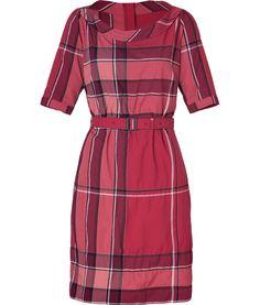 Burberry Boysenberry Check Crinkle Cotton Kristie Dress  $505