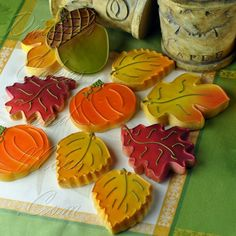 Decorated Fall Cookies | Decorated Cookies, Cookie Designs, Cookie Decorating Ideas Repinned By: #TheCookieCutterCompany