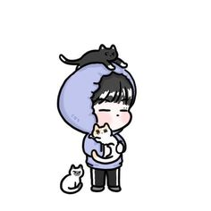 Got7 Fanart, Kpop Fanart, Jaebum Got7, Yugyeom, Cartoon Boy, Cute Stickers, Cute Drawings, Vintage Posters, Chibi
