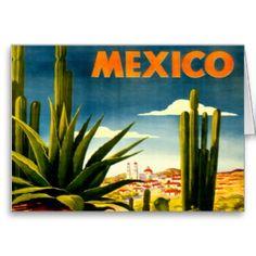 Vintage Mexico Cactus Mexican Travel Tourism Poster Re-Print Retro Poster, Poster S, Vintage Travel Posters, Vintage Postcards, Poster Prints, Art Prints, Art Posters, Canvas Prints, Travel Ads