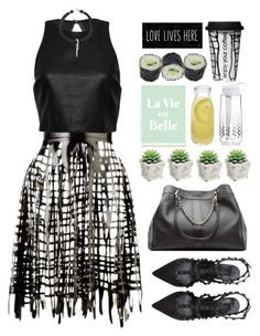 """""""24.08.15"""" by malenafashion27 ❤ liked on Polyvore featuring Sasha Louise, Alice + Olivia, Valentino, See by Chloé, Crate and Barrel, Brita, Dot & Bo, women's clothing, women and female"""