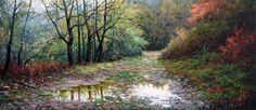 Pintar con espátula paisajes hermosos | Pintar al óleo Landscape Pictures, Landscape Paintings, Landscapes, Old Master, Ciel, Nature, Art Projects, Country Roads, Artwork