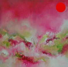 'Strata 14' Original Abstract Painting Large Contemporary Art Canvas Pink