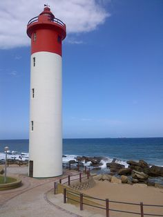 Lighthouse in front of The Oyster Box hotel, KZN Being In The World, All Over The World, Around The Worlds, Aquarius Daily, Daily Fun Facts, Show Me The Way, Kwazulu Natal, Special Interest, Am Meer